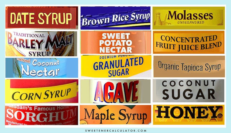 How to replace syrups for sugar