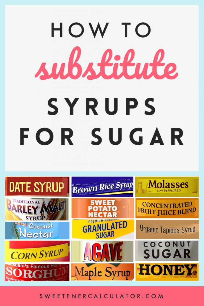Do you avoid baking with honey, maple syrup, and other syrups because you don't know how to swap them for sugar? Check out my complete guide to substitute dry sweeteners with syrups and nectars. Swap made easy for you!