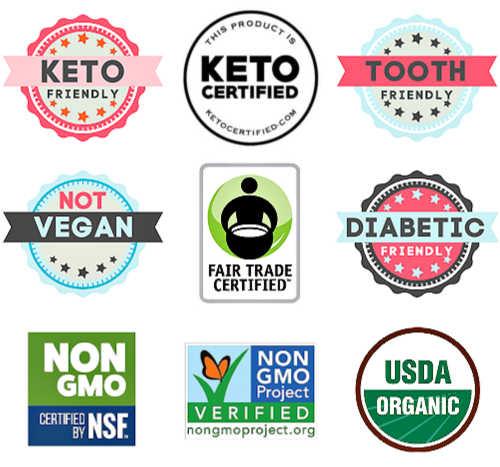 Organic keto non-GMO diabetic friendly sweetener
