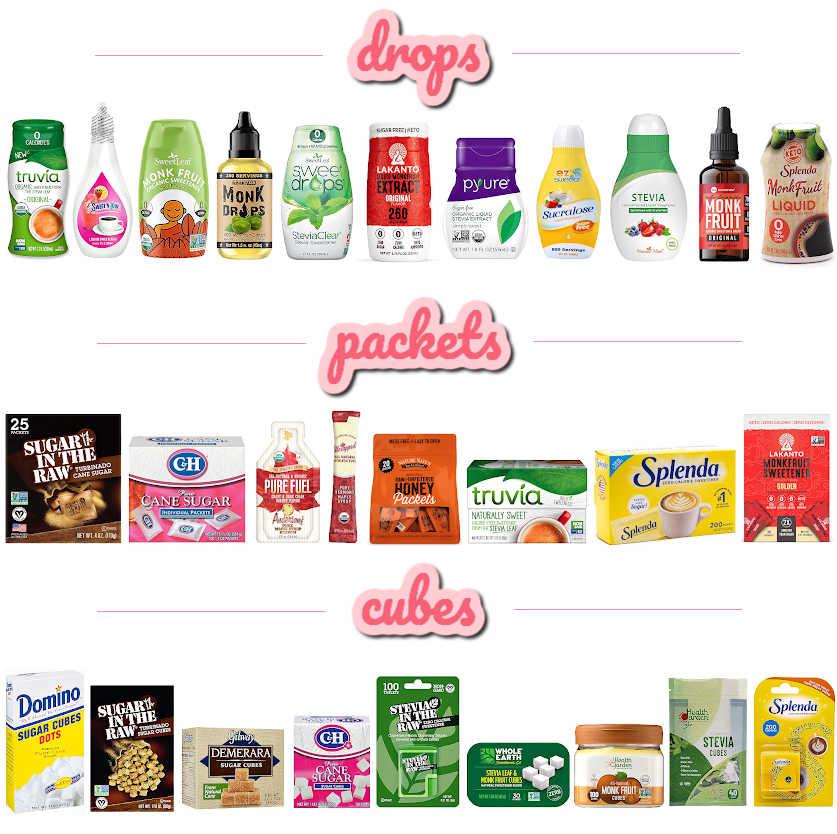 Types of sugar alternatives